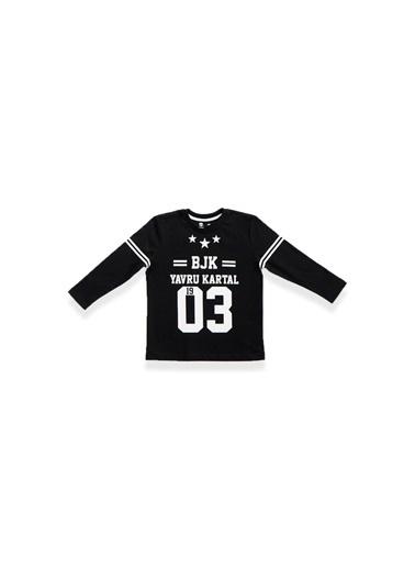 Beşiktaş Beşiktaş Lisanslı Çocuk Uzun Kol T-Shirt Kırmızı Siyah